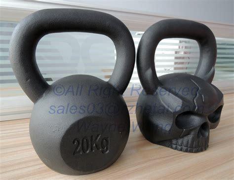 kettlebell skull russian 20kg cheap fitness coated powder oem service