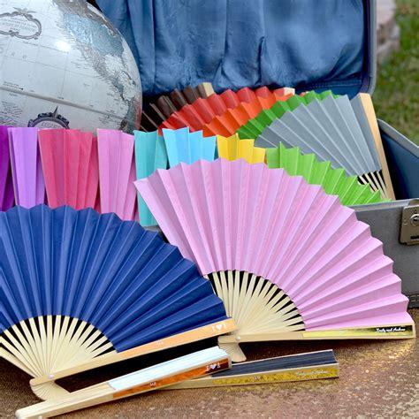 custom printed fans for weddings custom paper fans