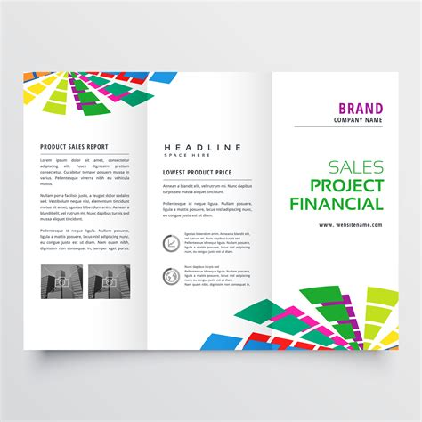 Abstract Colorful Brochure Design Template Vector Tri Fold Abstract Colorful Brochure Design Template Vector