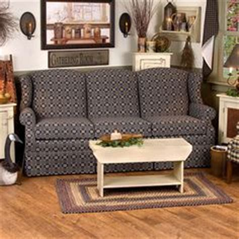 colonial primitive style wing back sofa s and more on