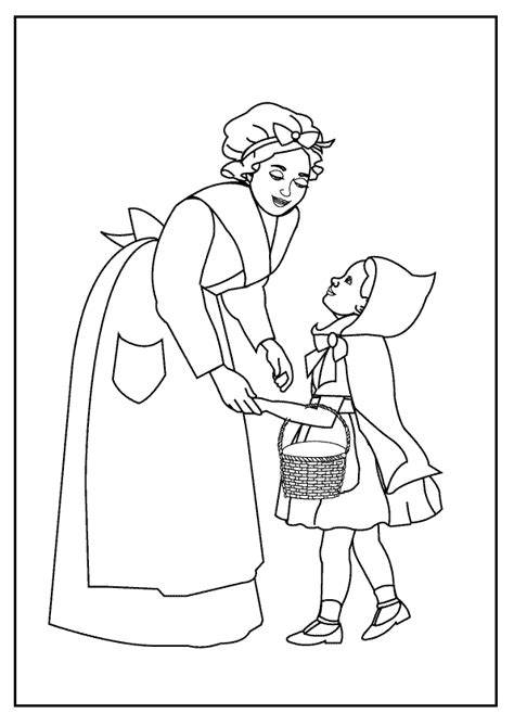 red riding hood coloring pages    print