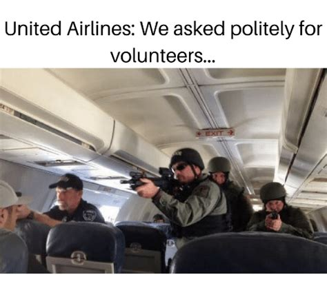 United Airlines We Asked Politely for Volunteers | United ...