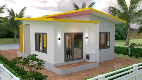 Small House Plans 7 5x11 with 2 Bedrooms Full plans
