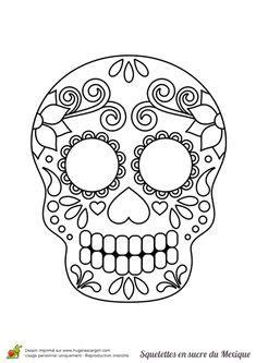 Free Printable Sugar Skull Coloring Sheets Skulls