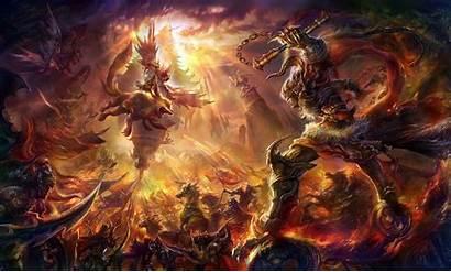 Epic Wallpapers Desktop Backgrounds Battle Fantasy Monsters