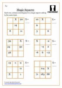 Math Magic Multiplication Squares Worksheet