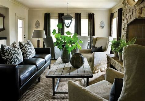 living room decor with leather sofa how to decorate a living room with a black leather sofa