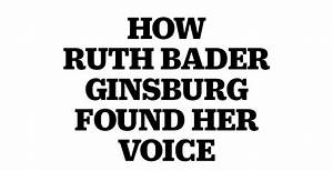 Supreme Court Justice Ruth Bader Ginsburg's Accent Changed