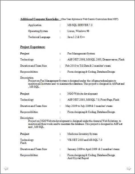 Resume Format 2014 Doc by Professional Resume Excellent Resume Sle Of