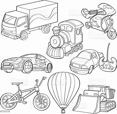 Transportation Types Cartoon Drawings Transport Drawing Clipart