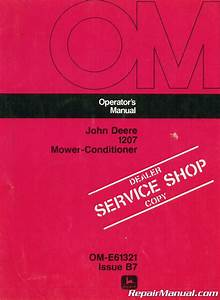 Used John Deere 1207 Mower Conditioner Operators Manual