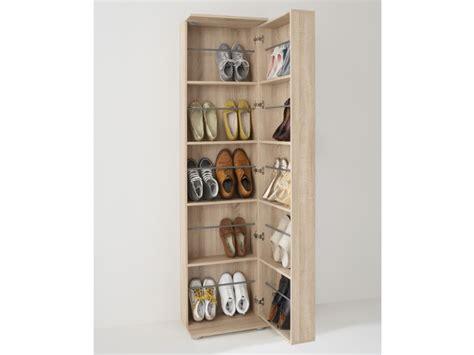 armoire de bureau design meuble à chaussures 1 porte 1 miroir 20 paires walker