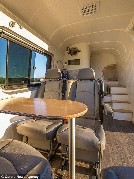 engineer transforms van   family friendly mobile home