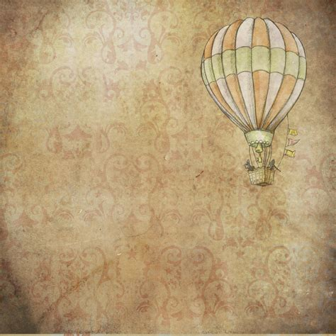 Vintage Backgrounds Background Vintage Air Balloon Free Stock Photo