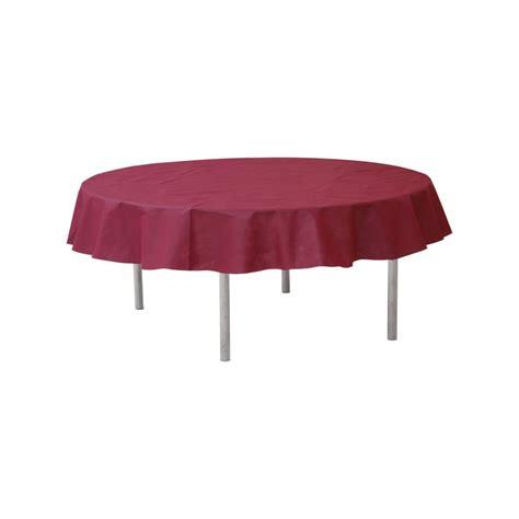 nappe ronde jetable 240 cm bordeaux nappe jetable