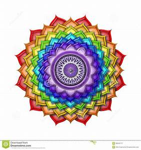 Crown Chakra Rainbow Colors Isolated Royalty Free Stock