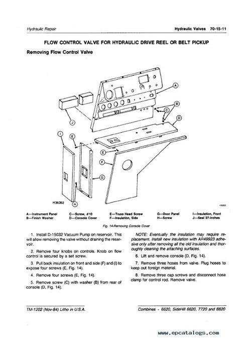 john deere sidehill    combines  manual