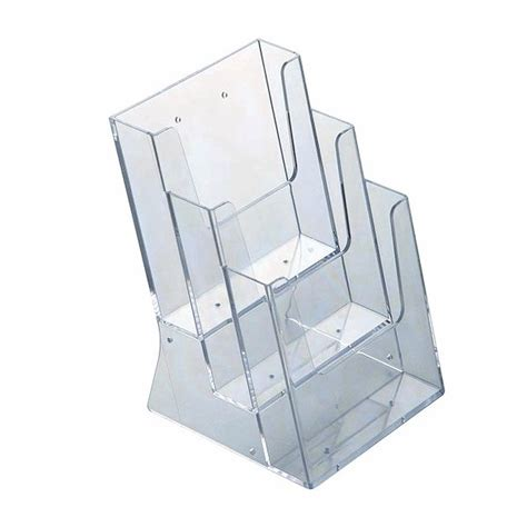 acrylic brochure holder multi pocket discount displays