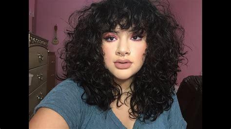 cut curly bangs   youtube