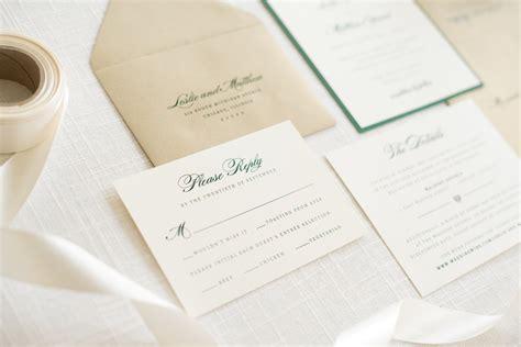 Elegant & Formal Irish Wedding Invitation With Satin