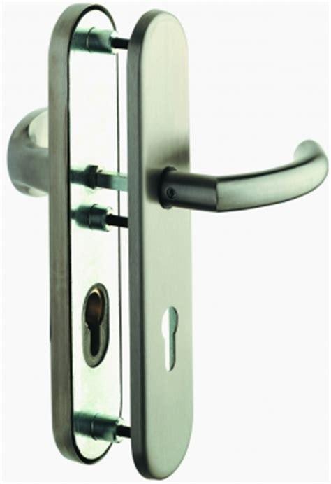 poign 233 e de porte d entr 233 e de s 233 curit 233 design en inox sur plaque cl 233 i entraxe 210 mm rapha 203 la