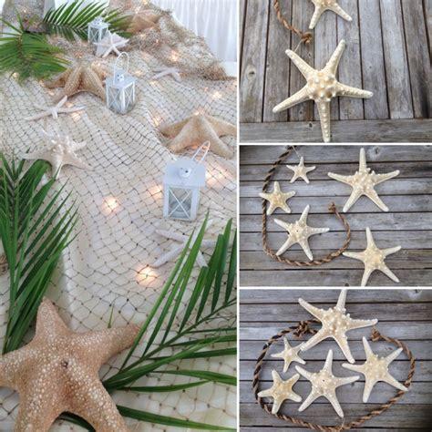 beach wedding accents   spotlight starfish