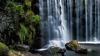 Waterfall Nature Desktop Tropical Rocks Cascade Moss