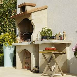 Meuble Bailleux Mondeville : barbecue fixe et cuisine d 39 ext rieur barbecue plancha ~ Premium-room.com Idées de Décoration