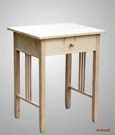 Tisch, Weichholz, Jugendstil, Klein, Mit Schublade