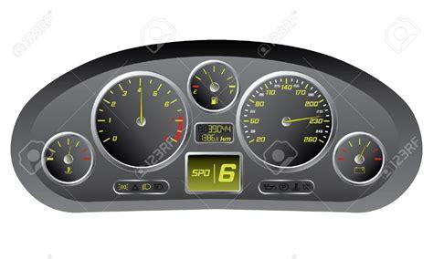Car Dashboard Gauges Clipart