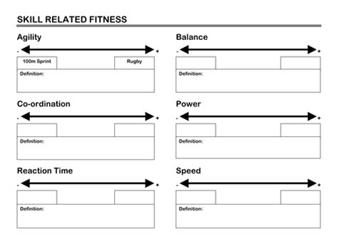 skill related fitness by smidge78 teaching resources