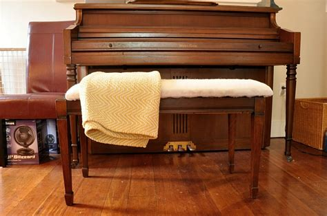piano bench cushion how to upholster a piano bench tutorial teeny ideas