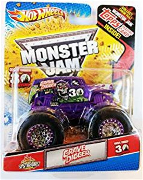 grave digger 30th anniversary monster truck toy amazon com wheels monster jam purple spectraflames