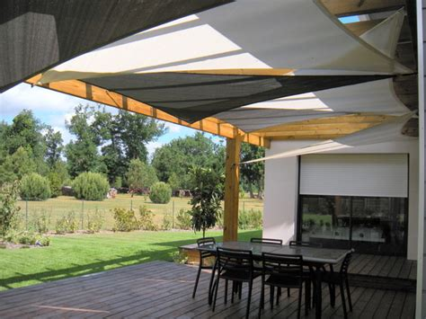 voile d ombrage pergola installation de voiles d ombrage sous un pergola contemporary patio other by tension