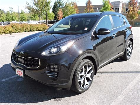 kia sportage black used 2018 kia sportage sx turbo black cherry 9p solid