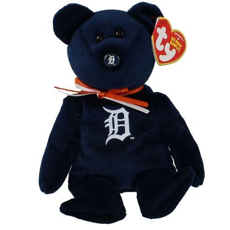 ty beanie baby mlb baseball bear detroit tigers