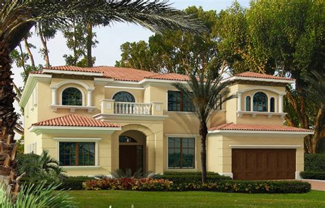 Waterfront Half Mediterranean House Plans Two Story