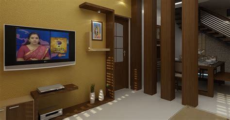 modern living room  wooden partition design ideas