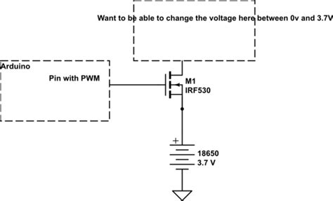 Variable Voltage With Mosfet Using Arduino Electrical