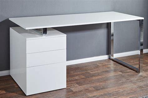 bureau blanc avec rangement bureau design iceberg design