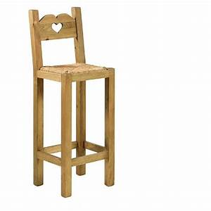 Tabouret de bar en bois avec dossier cuisine en image for Deco cuisine avec chaise en bois pas cher