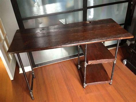 reclaimed barn wood  pipe desk home pipe desk wood