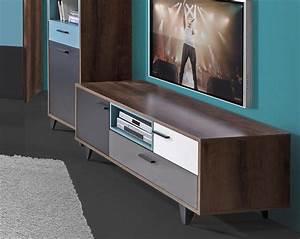 Lowboard Weiß Grau : tv unterschrank lowboard schlammeiche grau wei schwarz gr n 154 5cm neu highboards ~ Orissabook.com Haus und Dekorationen