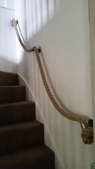 Treppe Handlauf Seil by Hemp Rope Handrail With Brackets And Manrope Knots