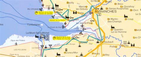 Carte Touristique Baie Du Mont Michel by Infos Sur 187 Carte Des Plages Baie Du Mont St Michel