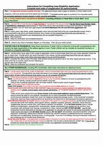 Iowa Eligibility Application Form Printable Pdf Download