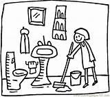 Toilet Clean Drawing Coloring Pages Bathroom Getdrawings sketch template