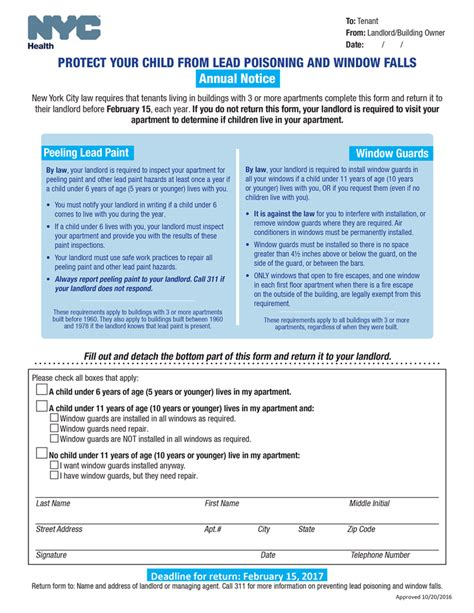 Nyc Lead Paint Disclosure Form by Window Guards Nyc Form Why Window Guards Nyc Form Had Been