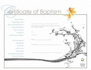 free baptism certificate template certificatepillar With water baptism certificate template