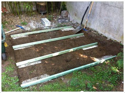 comment faire une dalle beton pour abri de jardin charmant comment faire une dalle beton pour terrasse 8 brico construire sa cabane de jardin